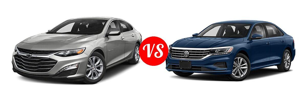 2021 Chevrolet Malibu Sedan LT vs. 2021 Volkswagen Passat Sedan 2.0T S / 2.0T SE - Front Left Comparison