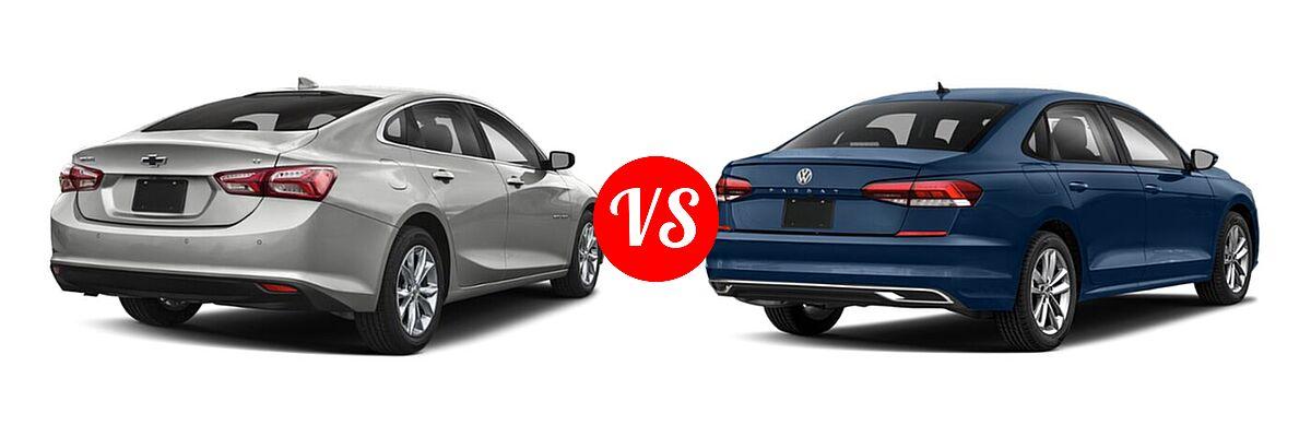 2021 Chevrolet Malibu Sedan LT vs. 2021 Volkswagen Passat Sedan 2.0T R-Line - Rear Right Comparison