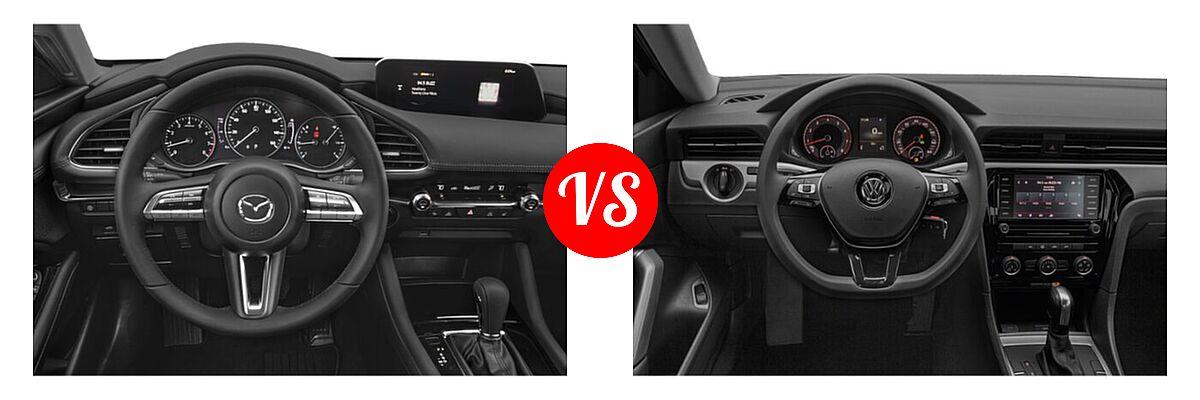 2021 Mazda 2 Sedan Preferred vs. 2021 Volkswagen Passat Sedan 2.0T R-Line - Dashboard Comparison