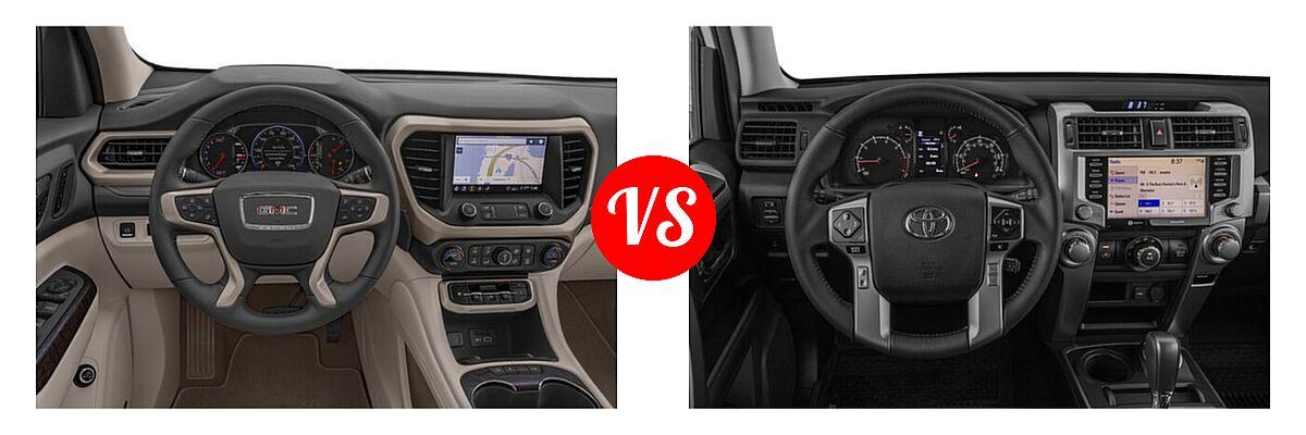 2021 GMC Acadia SUV Denali vs. 2021 Toyota 4Runner SUV Trail Special Edition - Dashboard Comparison