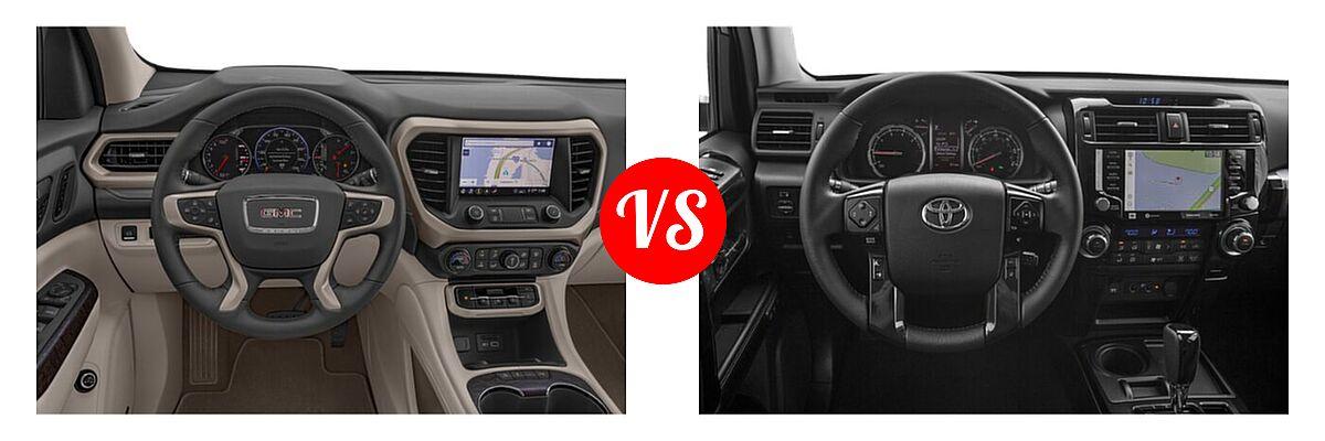 2021 GMC Acadia SUV Denali vs. 2021 Toyota 4Runner SUV Nightshade - Dashboard Comparison