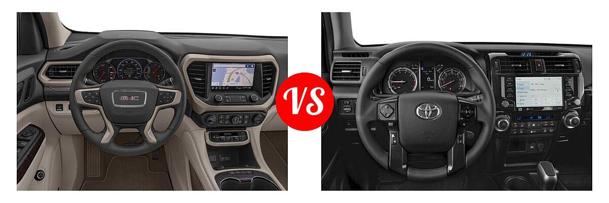 2021 GMC Acadia SUV Denali vs. 2021 Toyota 4Runner SUV TRD Pro - Dashboard Comparison