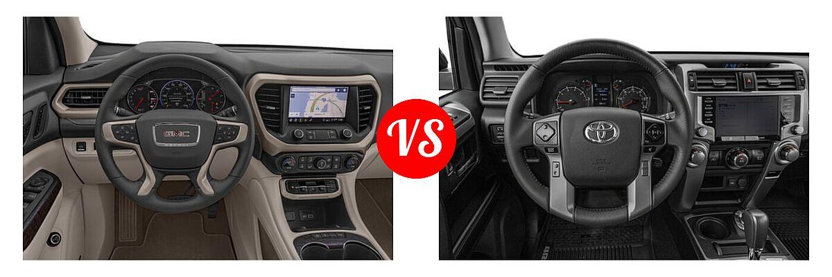 2021 GMC Acadia SUV Denali vs. 2021 Toyota 4Runner SUV SR5 / SR5 Premium - Dashboard Comparison
