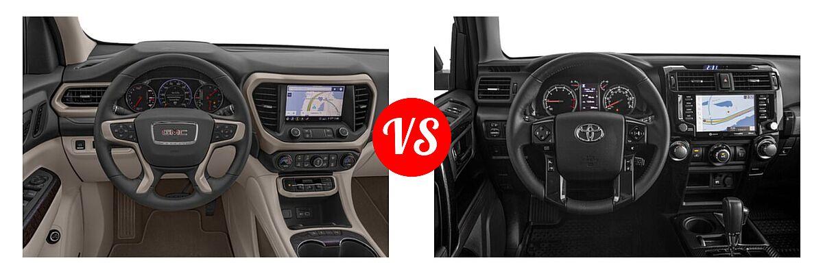 2021 GMC Acadia SUV Denali vs. 2021 Toyota 4Runner SUV Venture - Dashboard Comparison
