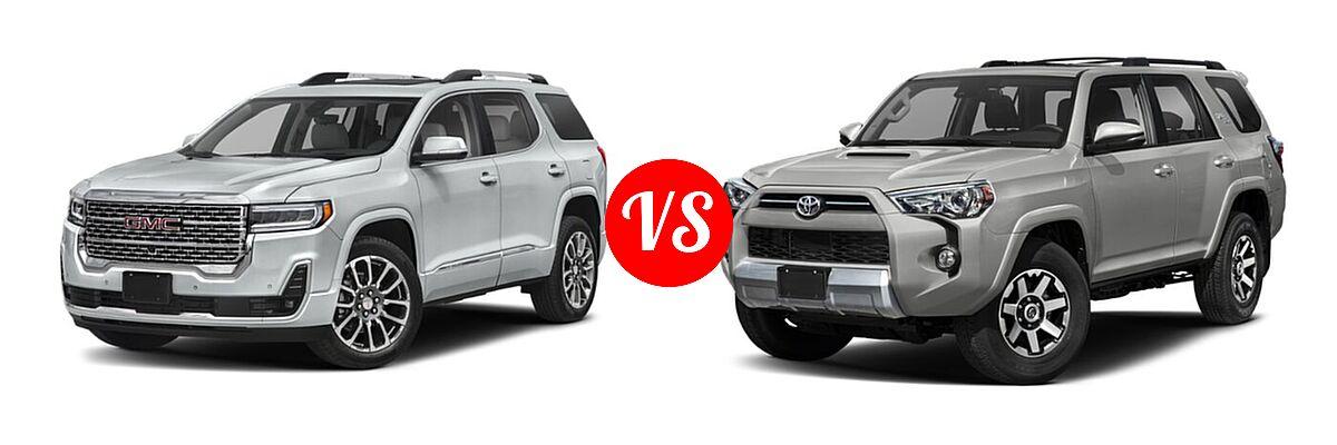 2021 GMC Acadia SUV Denali vs. 2021 Toyota 4Runner SUV TRD Off Road / TRD Off Road Premium - Front Left Comparison