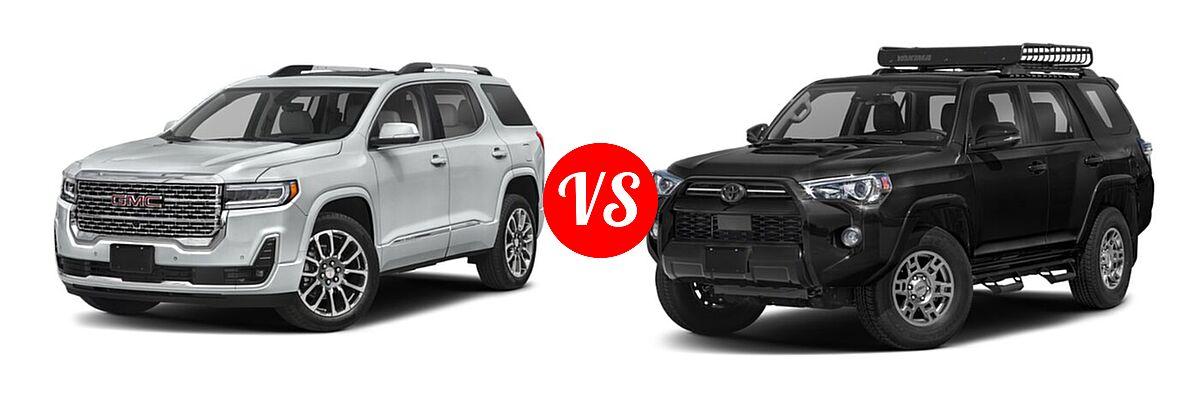 2021 GMC Acadia SUV Denali vs. 2021 Toyota 4Runner SUV Venture - Front Left Comparison