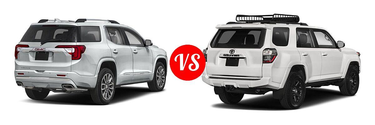 2021 GMC Acadia SUV Denali vs. 2021 Toyota 4Runner SUV Trail Special Edition - Rear Right Comparison