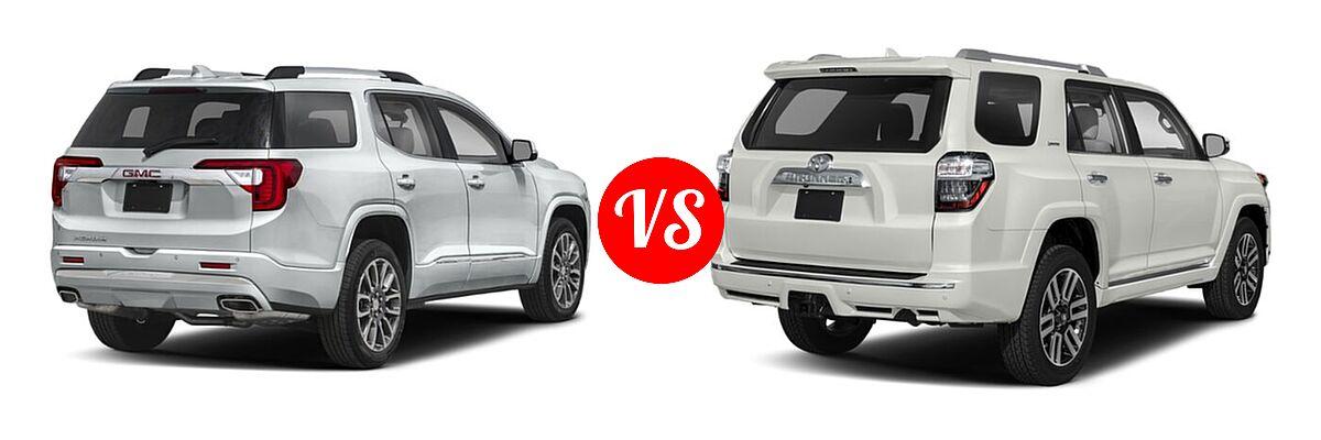 2021 GMC Acadia SUV Denali vs. 2021 Toyota 4Runner SUV Limited - Rear Right Comparison