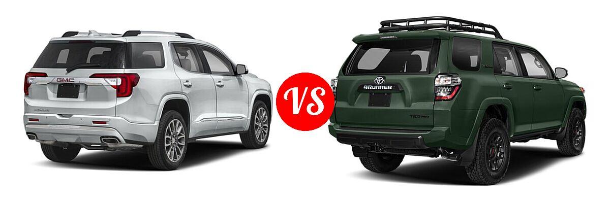 2021 GMC Acadia SUV Denali vs. 2021 Toyota 4Runner SUV TRD Pro - Rear Right Comparison