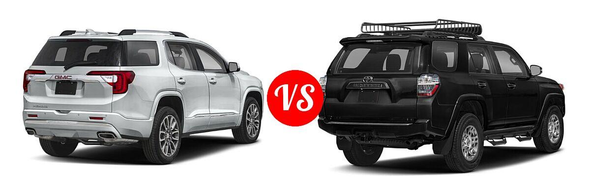 2021 GMC Acadia SUV Denali vs. 2021 Toyota 4Runner SUV Venture - Rear Right Comparison