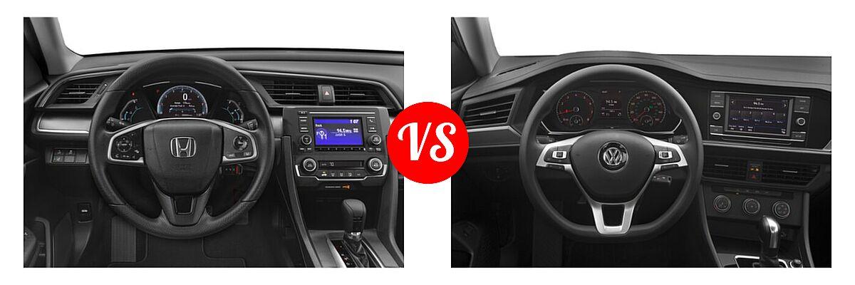 2021 Honda Civic Sedan LX vs. 2021 Volkswagen Jetta Sedan S / SE / SEL / SEL Premium - Dashboard Comparison