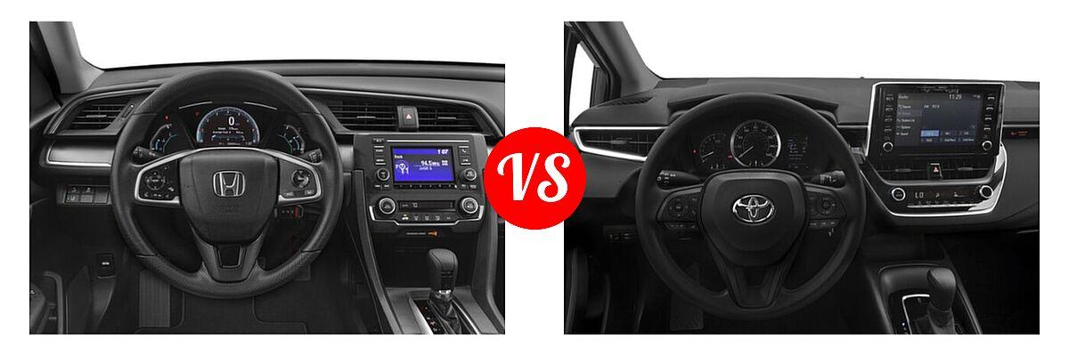 2021 Honda Civic Sedan LX vs. 2021 Toyota Corolla Sedan L / LE - Dashboard Comparison