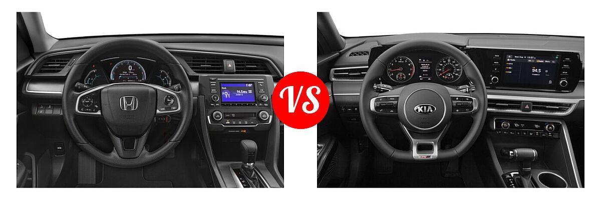 2021 Honda Civic Sedan LX vs. 2021 Kia K5 Sedan GT-Line - Dashboard Comparison