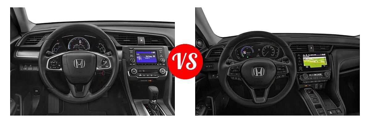 2021 Honda Civic Sedan LX vs. 2021 Honda Insight Sedan Hybrid Touring - Dashboard Comparison