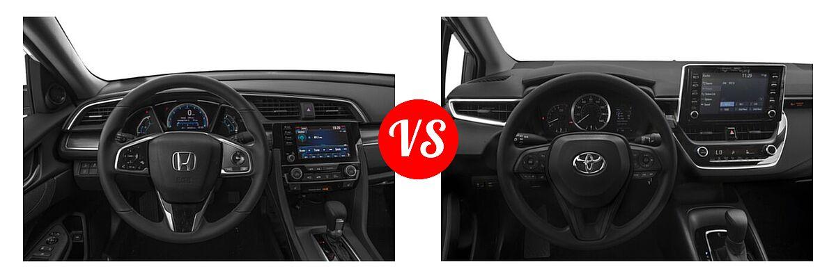 2021 Honda Civic Sedan EX vs. 2021 Toyota Corolla Sedan L / LE - Dashboard Comparison