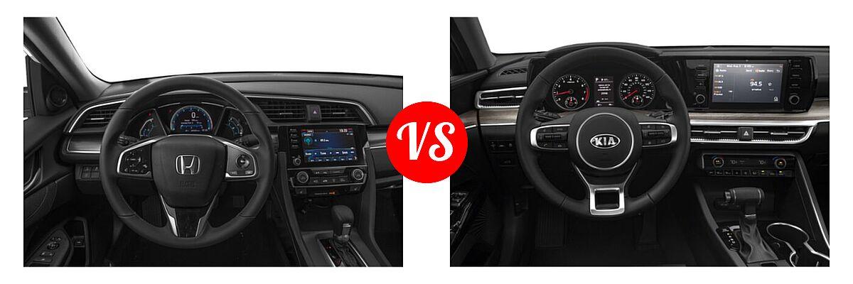 2021 Honda Civic Sedan EX vs. 2021 Kia K5 Sedan EX - Dashboard Comparison