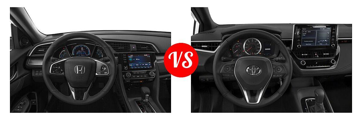 2021 Honda Civic Sedan EX vs. 2021 Toyota Corolla Sedan Nightshade - Dashboard Comparison