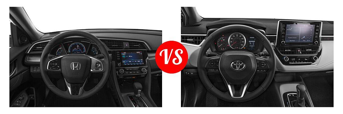 2021 Honda Civic Sedan EX vs. 2021 Toyota Corolla Sedan APEX SE - Dashboard Comparison