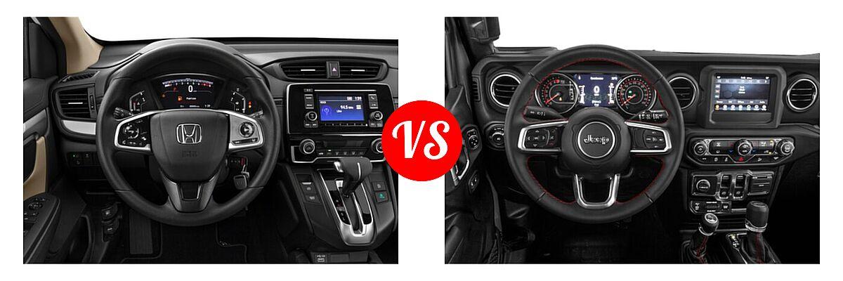 2021 Honda CR-V SUV LX vs. 2021 Jeep Wrangler SUV Rubicon - Dashboard Comparison