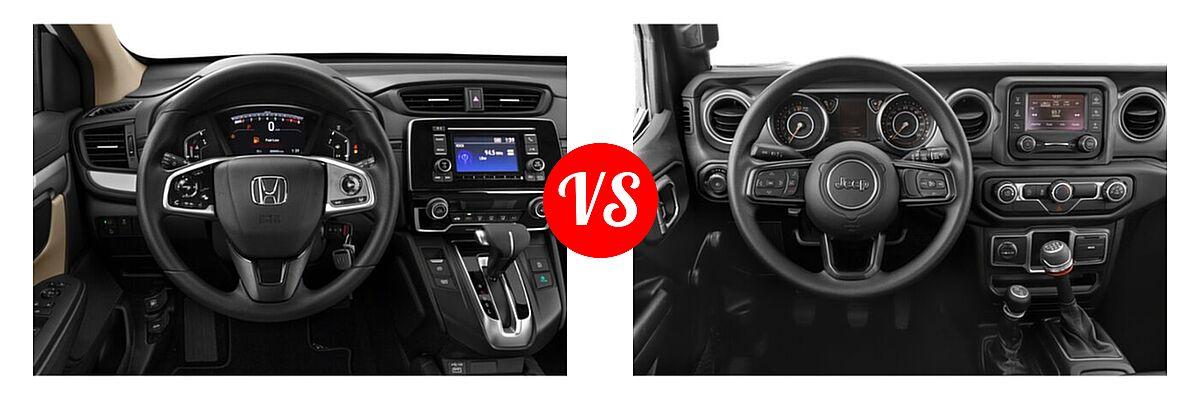 2021 Honda CR-V SUV LX vs. 2021 Jeep Wrangler SUV 80th Anniversary / Freedom / Islander / Sport / Sport S / Willys / Willys Sport - Dashboard Comparison