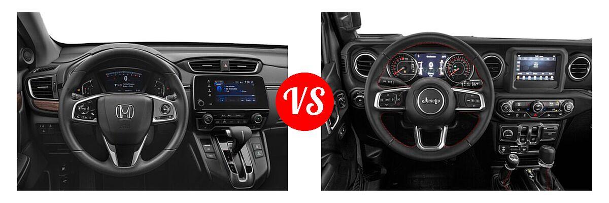 2021 Honda CR-V SUV EX vs. 2021 Jeep Wrangler SUV Rubicon - Dashboard Comparison