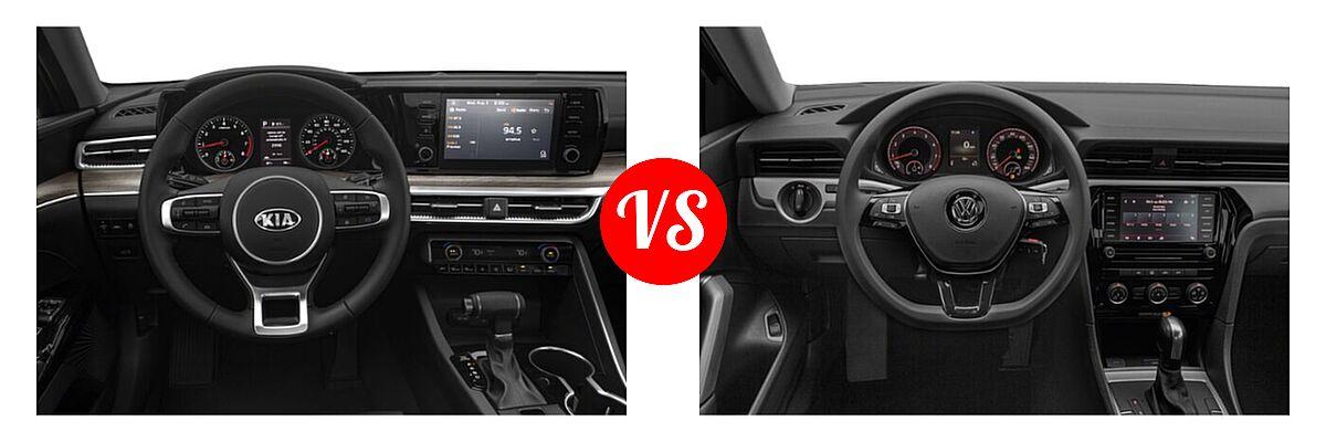 2021 Kia K5 Sedan EX vs. 2021 Volkswagen Passat Sedan 2.0T S / 2.0T SE - Dashboard Comparison