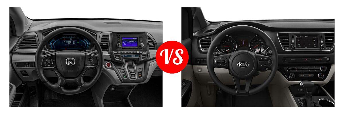 2021 Honda Odyssey Minivan LX vs. 2021 Kia Sedona Minivan LX - Dashboard Comparison