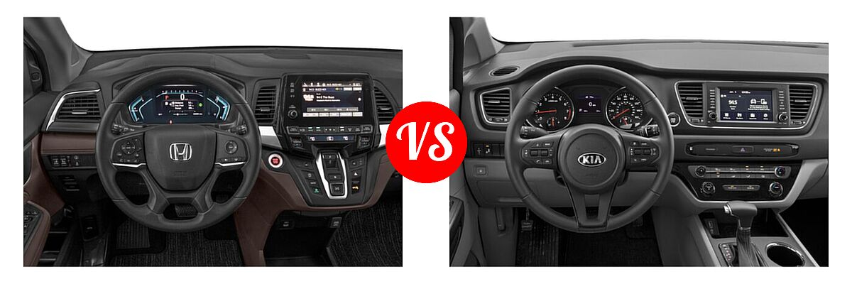 2021 Honda Odyssey Minivan EX vs. 2021 Kia Sedona Minivan EX - Dashboard Comparison