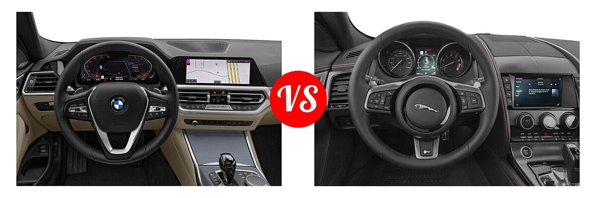2021 BMW 4 Series Coupe 430i / 430i xDrive vs. 2018 Jaguar F-TYPE Coupe R-Dynamic - Dashboard Comparison