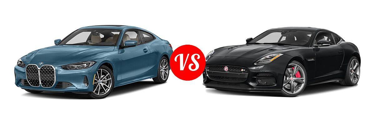 2021 BMW 4 Series Coupe 430i / 430i xDrive vs. 2018 Jaguar F-TYPE Coupe R-Dynamic - Front Left Comparison