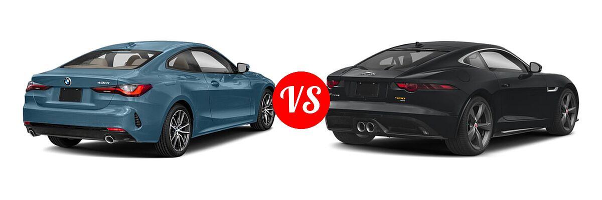 2021 BMW 4 Series Coupe 430i / 430i xDrive vs. 2018 Jaguar F-TYPE Coupe 400 Sport - Rear Right Comparison