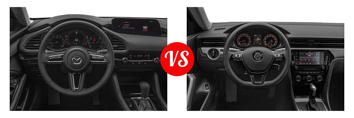 2021 Mazda 2 Sedan Select vs. 2021 Volkswagen Passat Sedan 2.0T R-Line - Dashboard Comparison