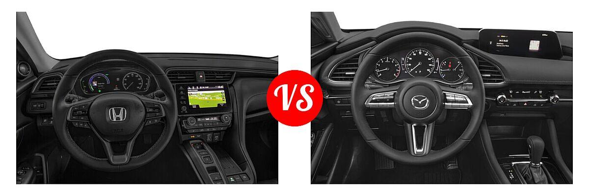 2021 Honda Insight Sedan Hybrid Touring vs. 2021 Mazda 2 Sedan Preferred - Dashboard Comparison