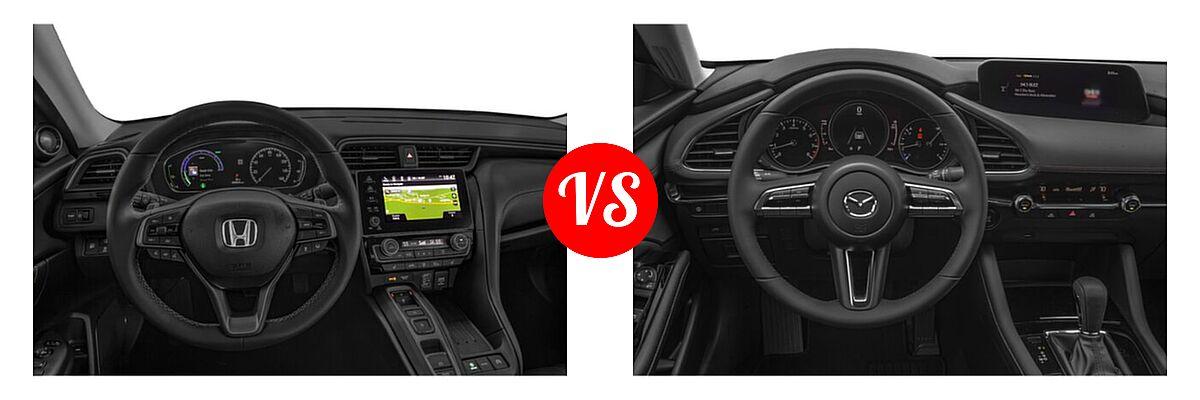 2021 Honda Insight Sedan Hybrid Touring vs. 2021 Mazda 2 Sedan Select - Dashboard Comparison