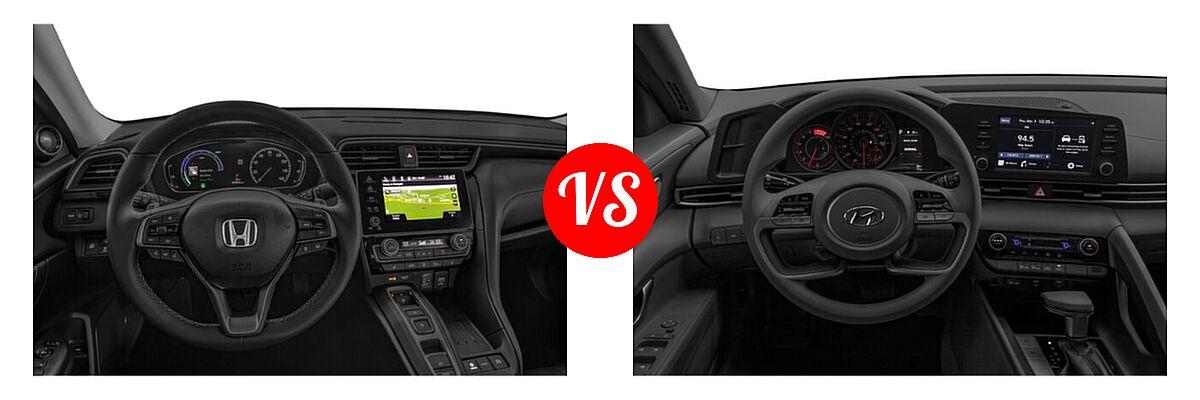 2021 Honda Insight Sedan Hybrid Touring vs. 2021 Hyundai Elantra Sedan  - Dashboard Comparison