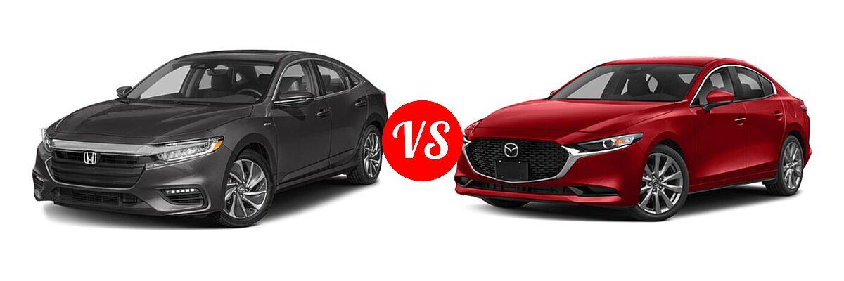 2021 Honda Insight Sedan Hybrid Touring vs. 2021 Mazda 2 Sedan Preferred - Front Left Comparison