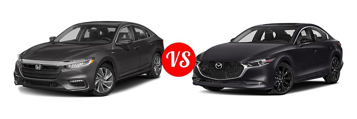 2021 Honda Insight Sedan Hybrid Touring vs. 2021 Mazda 2 Sedan 2.5 Turbo - Front Left Comparison