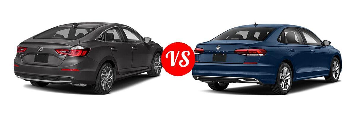 2021 Honda Insight Sedan Hybrid Touring vs. 2021 Volkswagen Passat Sedan 2.0T R-Line - Rear Right Comparison