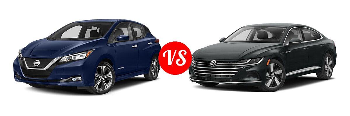 2021 Nissan Leaf Hatchback Electric S / S PLUS / SL PLUS / SV / SV PLUS vs. 2021 Volkswagen Arteon Hatchback SE - Front Left Comparison