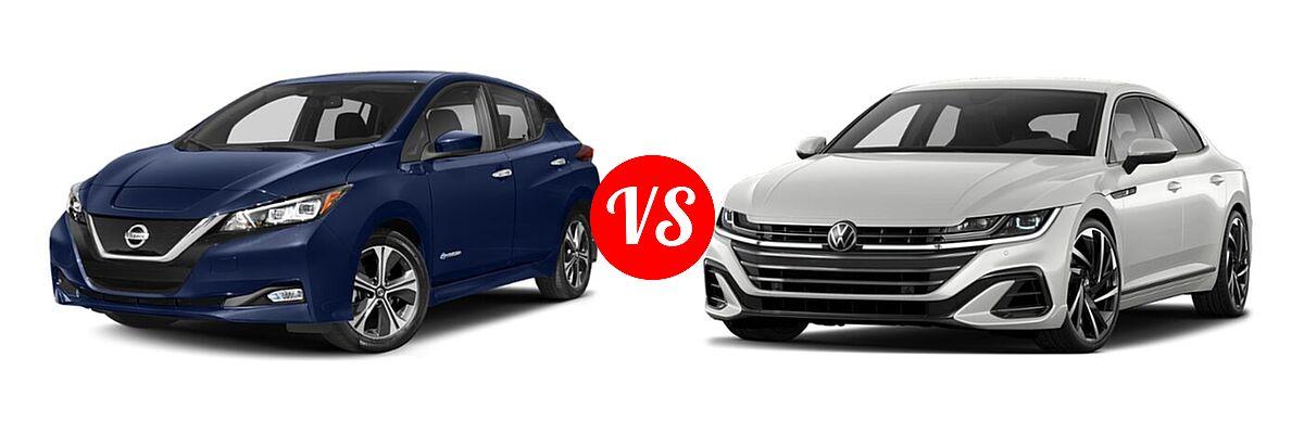 2021 Nissan Leaf Hatchback Electric S / S PLUS / SL PLUS / SV / SV PLUS vs. 2021 Volkswagen Arteon Hatchback SEL Premium R-Line / SEL R-Line - Front Left Comparison