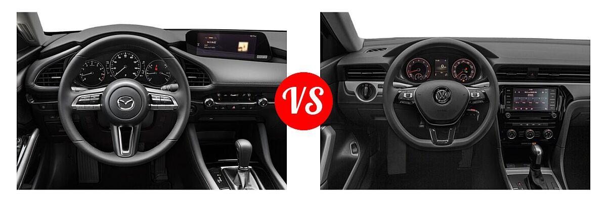 2021 Mazda 2 Sedan Premium vs. 2021 Volkswagen Passat Sedan 2.0T S / 2.0T SE - Dashboard Comparison