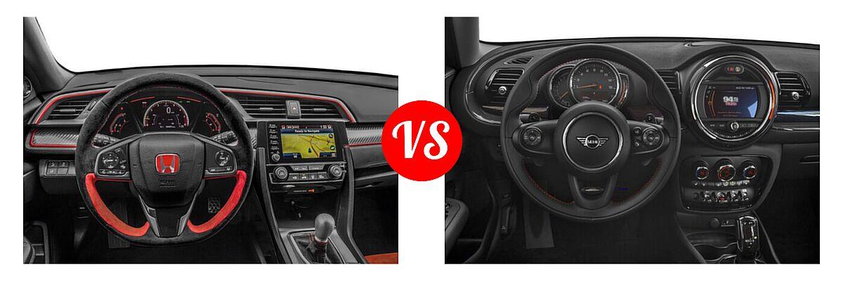 2021 Honda Civic Type R Hatchback Touring vs. 2021 MINI Clubman John Cooper Works Hatchback John Cooper Works - Dashboard Comparison