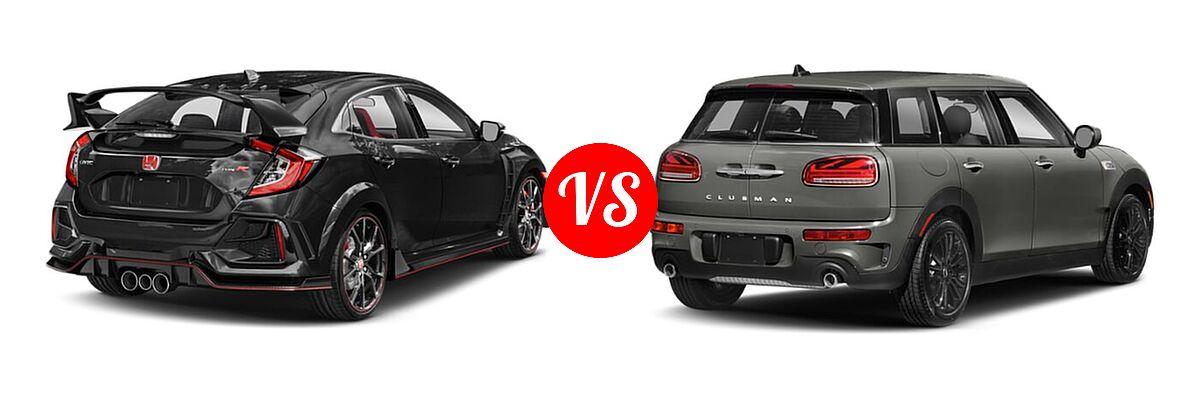 2021 Honda Civic Type R Hatchback Touring vs. 2021 MINI Clubman John Cooper Works Hatchback John Cooper Works - Rear Right Comparison