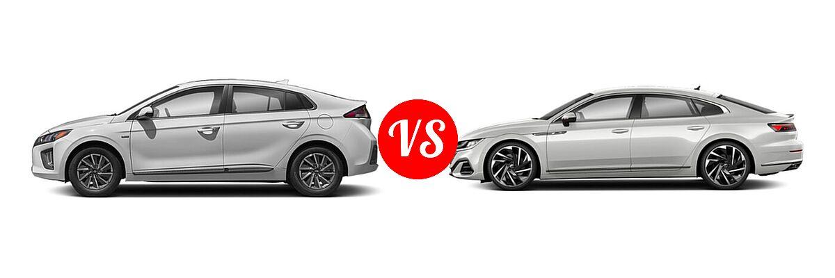2021 Hyundai Ioniq Electric Hatchback Electric SE vs. 2021 Volkswagen Arteon Hatchback SEL Premium R-Line / SEL R-Line - Side Comparison