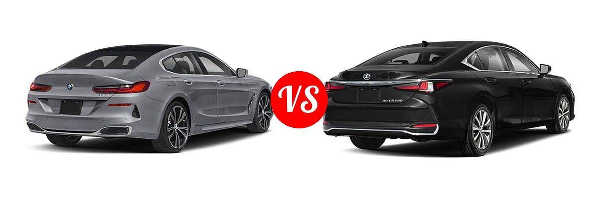 2021 BMW 8 Series Sedan 840i vs. 2021 Lexus ES 250 Sedan ES 250 - Rear Right Comparison