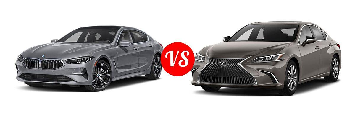 2021 BMW 8 Series Sedan 840i vs. 2021 Lexus ES 250 Sedan ES 250 F SPORT / ES 250 Luxury / ES 250 Ultra Luxury - Front Left Comparison