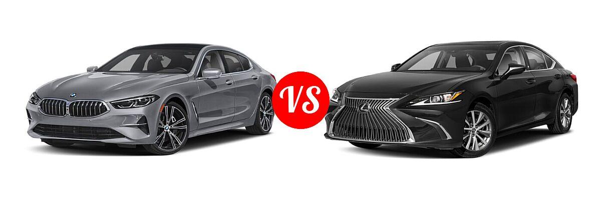 2021 BMW 8 Series Sedan 840i vs. 2021 Lexus ES 250 Sedan ES 250 - Front Left Comparison