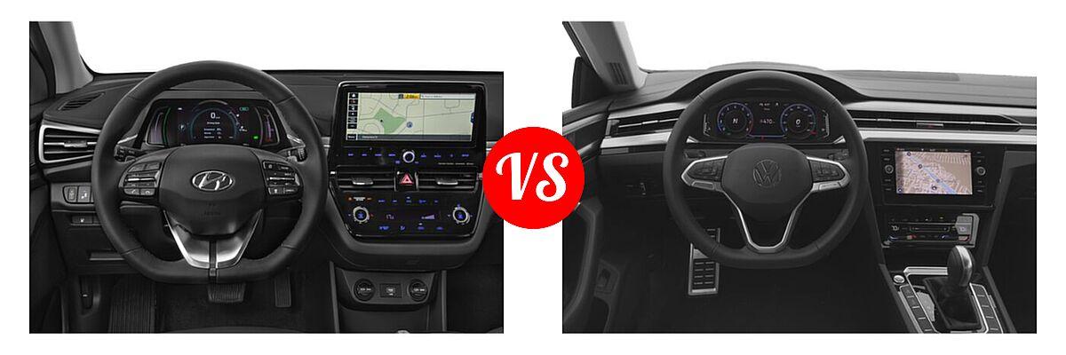 2021 Hyundai Ioniq Electric Hatchback Electric Limited vs. 2021 Volkswagen Arteon Hatchback SE - Dashboard Comparison