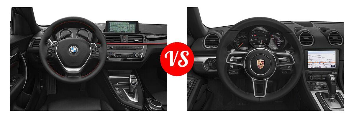2021 BMW 2 Series Convertible 230i vs. 2021 Porsche 718 Boxster Convertible Roadster - Dashboard Comparison