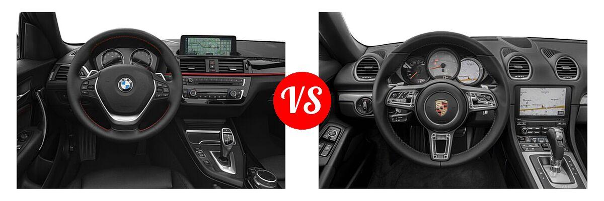 2021 BMW 2 Series Convertible 230i vs. 2021 Porsche 718 Boxster Convertible S - Dashboard Comparison